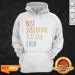 Top Best Substitute Teacher Ever Cool Vintage Christmas Gift Hoodie