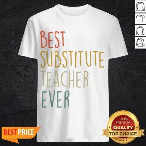 Top Best Substitute Teacher Ever Cool Vintage Christmas Gift Shirt