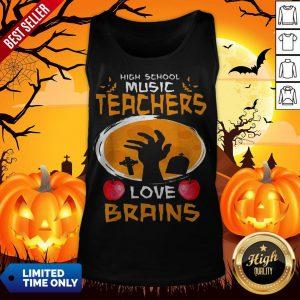Top High School Music Teachers Love Brains Halloween Gift Tank Top