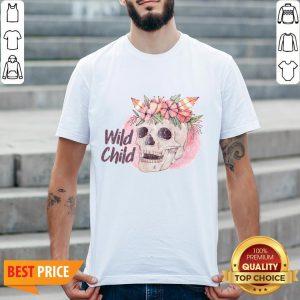 Wild Child Sugar Skull Hippie Hippy California Free Spirit Day Of Dead Sweatshirt