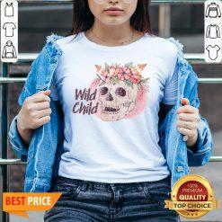 Wild Child Sugar Skull Hippie Hippy California Free Spirit Day Of Dead V-neck