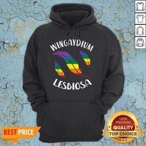 Wingaydium Lesbiosa LGBT Gay Pride Lesbian Hoodie