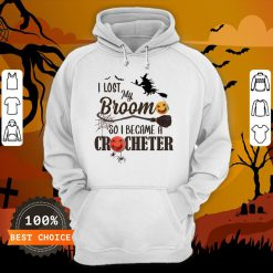 Witch I Los My Broom So I Became A Crocheter Pumpkin Halloween Hoodie