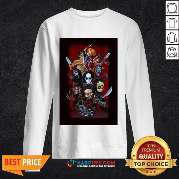 Chibi Horror Characters Grave Stompers Sweatshirt