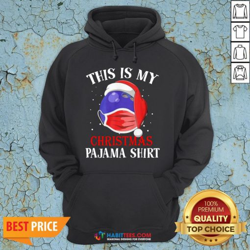 Cute Official This Is My Christmas Pajama Face Mask Hoodie - Design By Habittees.com