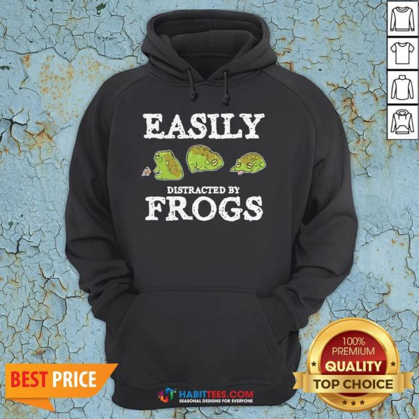 Easily Distracted By Frogs Hoodie