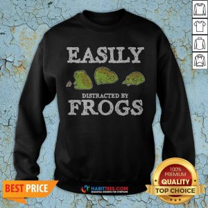 Easily Distracted By Frogs Sweatshirt