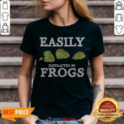 Easily Distracted By Frogs V-neck