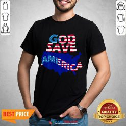 Funny God Save America Patriotic American Flag Shirt - Design By Habittees.com