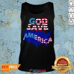 Funny God Save America Patriotic American Flag Tank Top - Design By Habittees.com