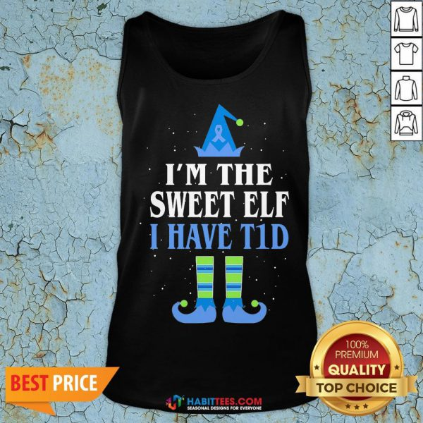 Funny I'm The Sweet Elf I Have Tid Christmas Tank Top - Design By Habittees.com