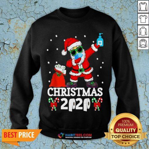 Great Santa Claus Dabbing Toilet Paper Christmas 2020 Sweatshirt - Design By Habittees.com
