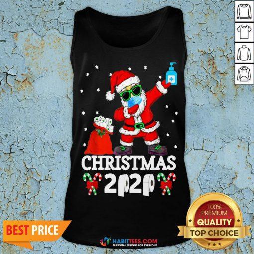 Great Santa Claus Dabbing Toilet Paper Christmas 2020 Tank Top - Design By Habittees.com