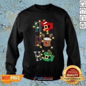 Happy Ho Ho Ho Merry Christmas Light Sweatshirt - Design By Habittees.com
