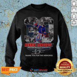 Henrik Lundqvist New York Rangers 2005 2020 Thank You For The Memories Sweatshirt