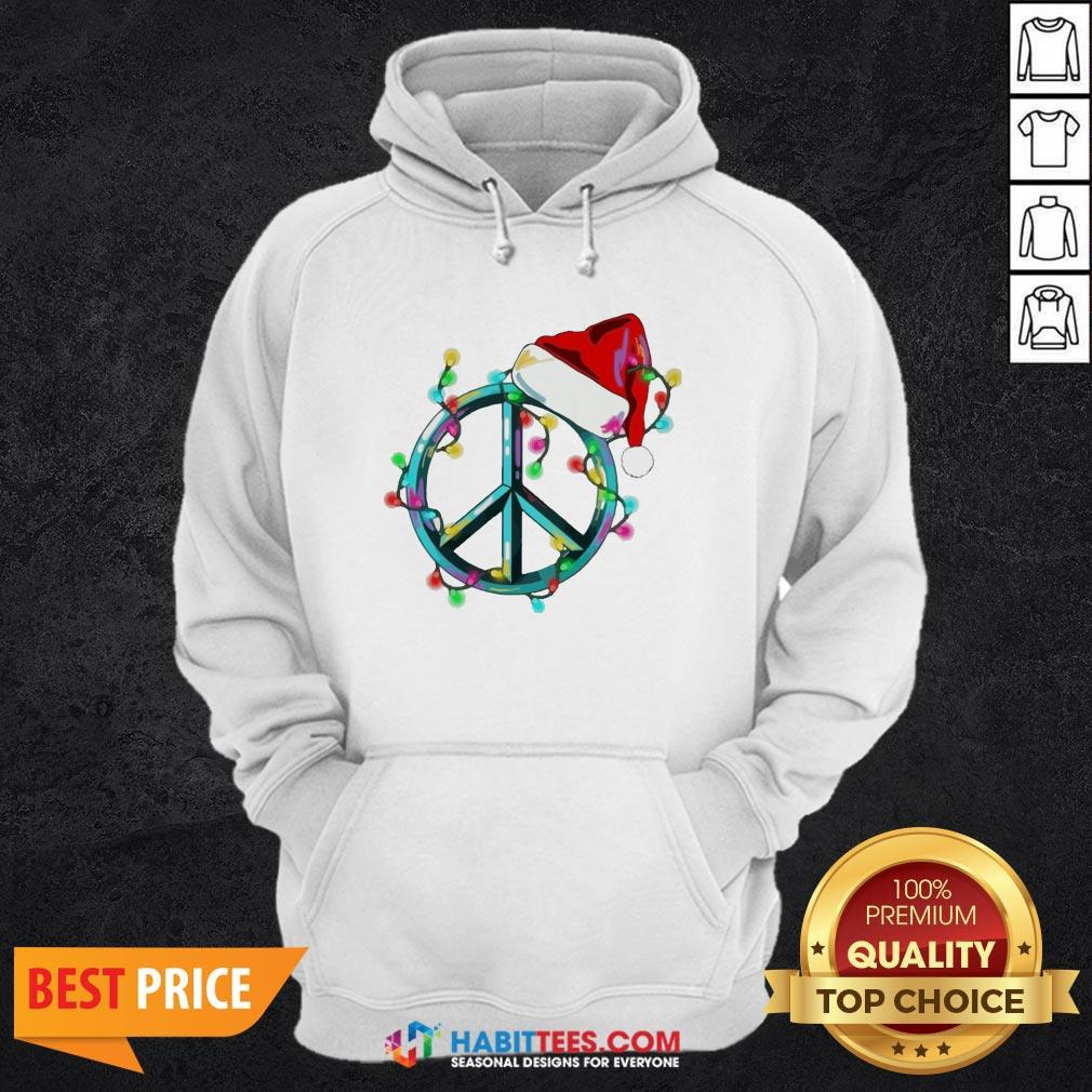 Funny Hippie Happy Christmas Hoodie - Design by Habittees.com