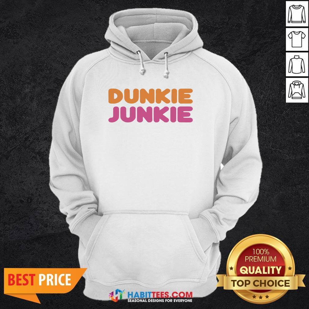 Funny Dunkie Junkie Hoodie - Design by Habittees.com