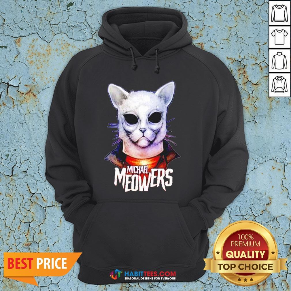 Pretty Michael Myers Michael Meowers Hoodie- Design by Habittees.com