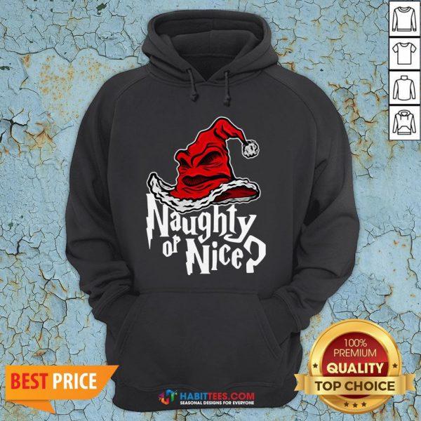 Naughty Or Nice Sorted Christmas Hat Hoodie