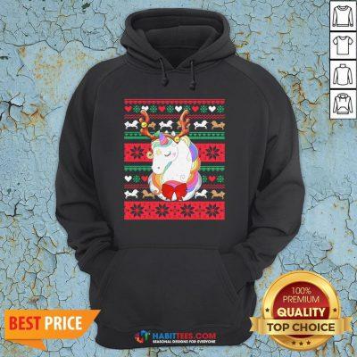 Original Reindeer Unicorn Ugly Christmas Hoodie
