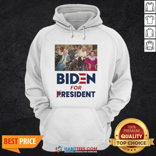 Pretty Trump Biden For President Hoodie- Design by Habittees.com