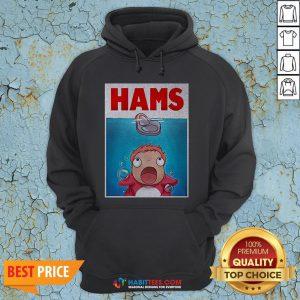 Official Hams Parody Jaws Hoodie- Design by Habittees.com