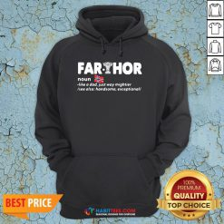 Official Fathers Day Fathor Like A Dad Just Way Mightier Iron Man Funny Hoodie