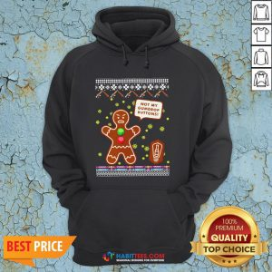 Official Not My Gumdrop Buttons Gingerbread Man Ugly Christmas Hoodie