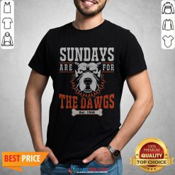 Official Sundays Are For The Dawgs Cleveland EST 1946 Shirt