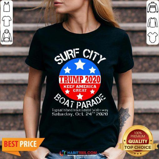 Official Surf City Trump Boat Parade V-neck