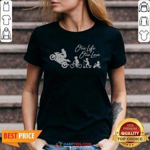 One Life One Love Biker V-neck
