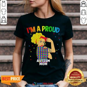 Perfect I'm A Proud Autism Mom V-neck - Design By Habittees.com