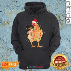 Premium Rooster Santa Christmas Sweat Hoodie - Design By Habittees.com