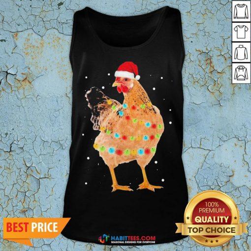 Premium Rooster Santa Christmas Sweat Tank Top - Design By Habittees.com