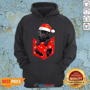 Premium Santa Pug Merry Christmas Hoodie - Design By Habittees.com