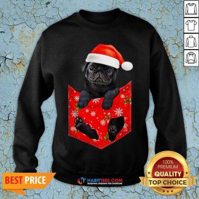 Premium Santa Pug Merry Christmas Sweatshirt - Design By Habittees.com