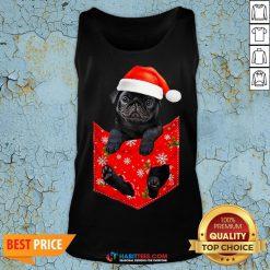 Premium Santa Pug Merry Christmas Tank Top - Design By Habittees.com
