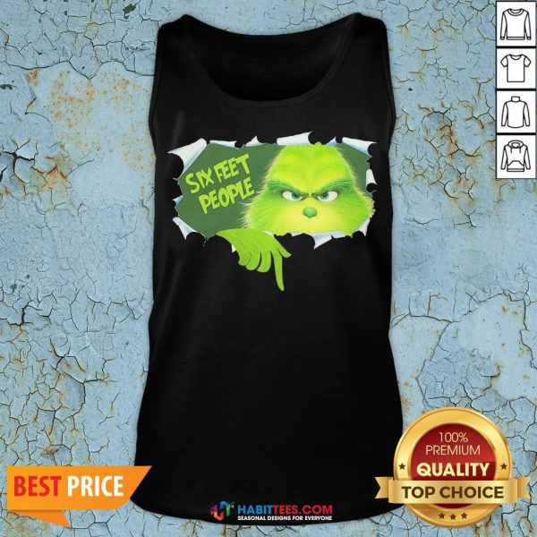 Pretty The Grinch Six Feet People Tank Top - Design By Habittees.com