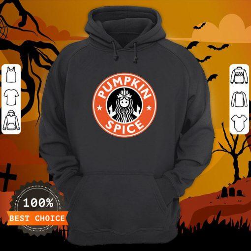 Pumpkin Spice Funny Coffee Lovers Latte Halloween Hoodie