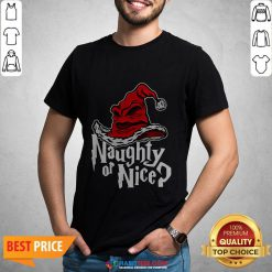 Naughty Or Nice Sorted Christmas Hat Shirt