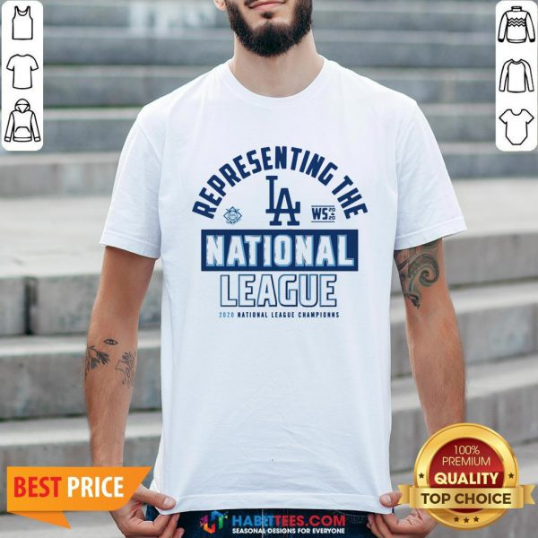 Dodg-ers NL West Champs 2020 Shirt- Design by Habittees.com