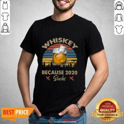 Pretty Whiskey Because 2020 Suchs Vintage Retro Shirt- Design by Habittees.com