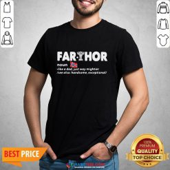 Official Fathers Day Fathor Like A Dad Just Way Mightier Iron Man Funny Shirt