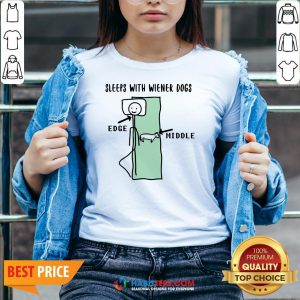 Sleeps With Wiener Dogs Edge Middle V-neck