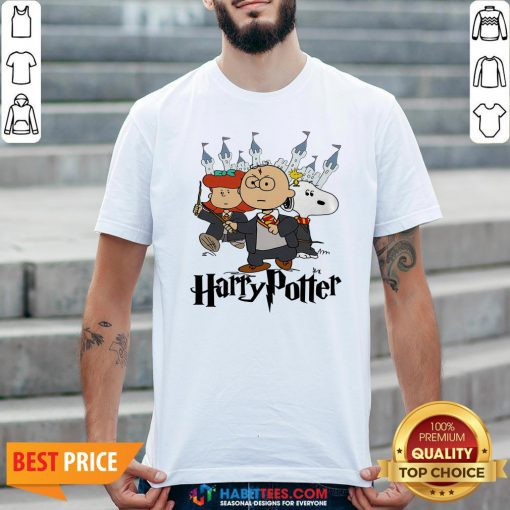Snoopy And Charlie Brown And Lucy Van Pelt Harry Potter Shirt