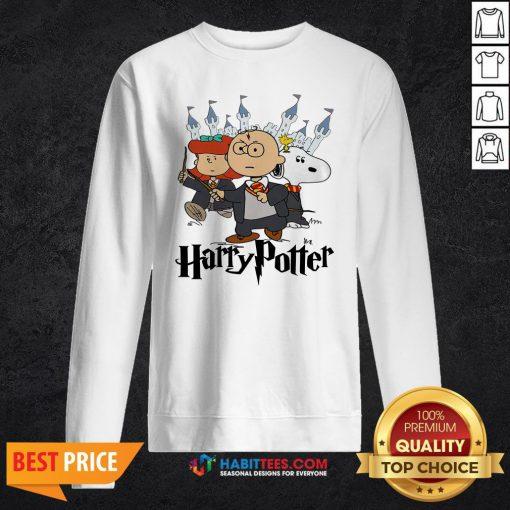 Snoopy And Charlie Brown And Lucy Van Pelt Harry Potter Sweatshirt