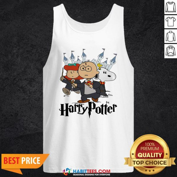 Snoopy And Charlie Brown And Lucy Van Pelt Harry Potter Tank Top