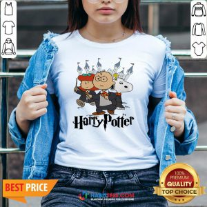 Snoopy And Charlie Brown And Lucy Van Pelt Harry Potter V-neck