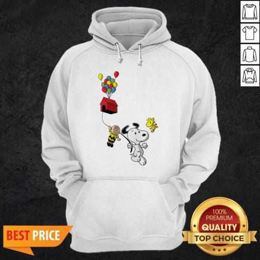 Snoopy And Charlie Brown Woodstock Balloon Hoodie
