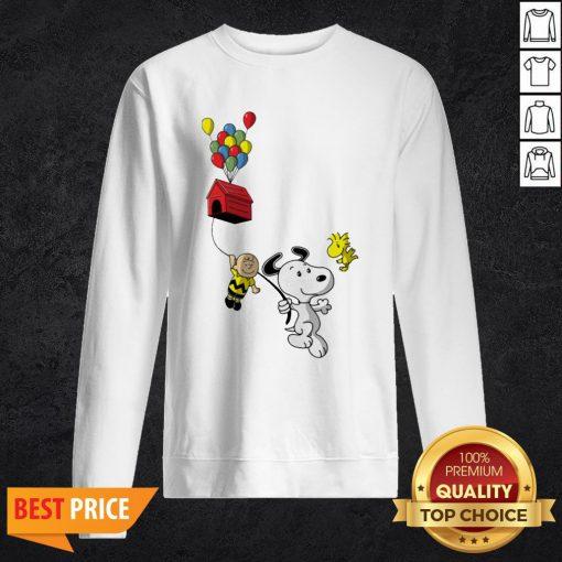 Snoopy And Charlie Brown Woodstock Balloon Sweatshirt